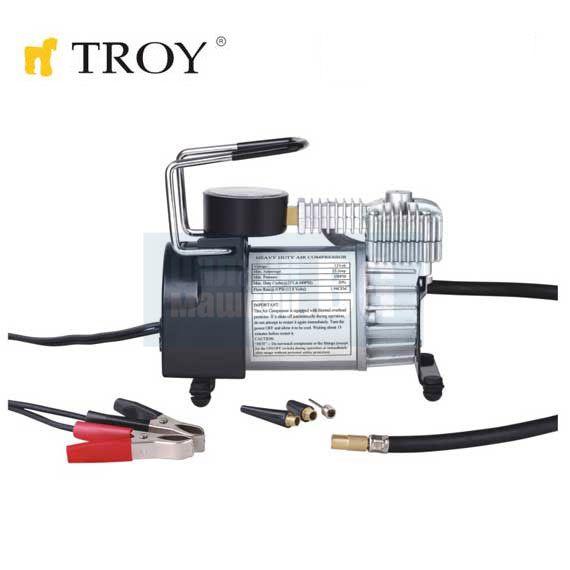 28dccc11dca Компресор за гуми с манометър TROY T 18150 / 12V, 23A / - Цена ...