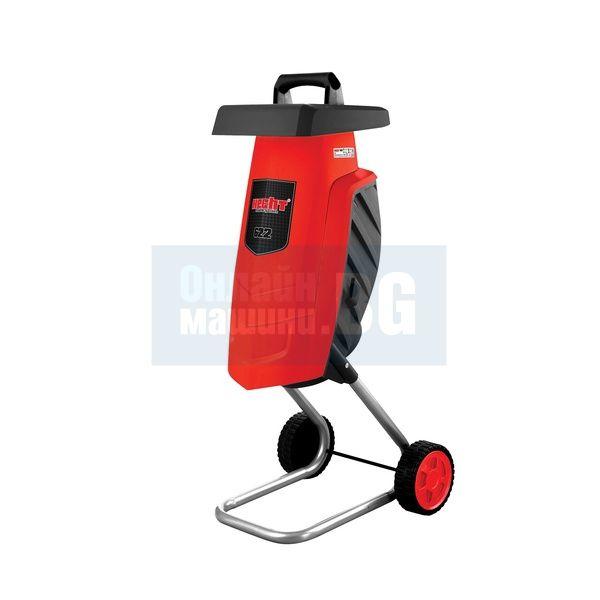 Електрическа дробилка за клони HECHT 622 / 2200 W , 4 см / с 60 л торба