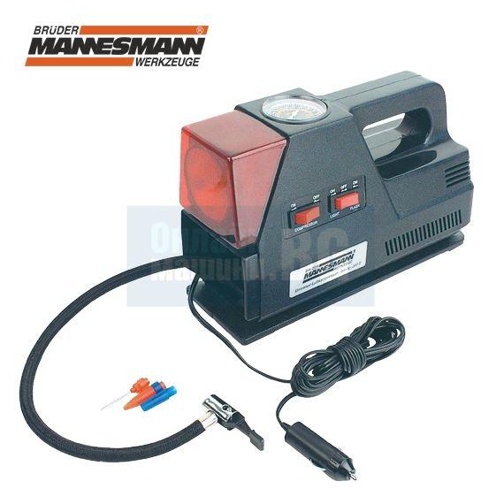 0c1680cead2 Компресор за гуми с лампа и манометър Mannesmann M 097-T / 12 V ...