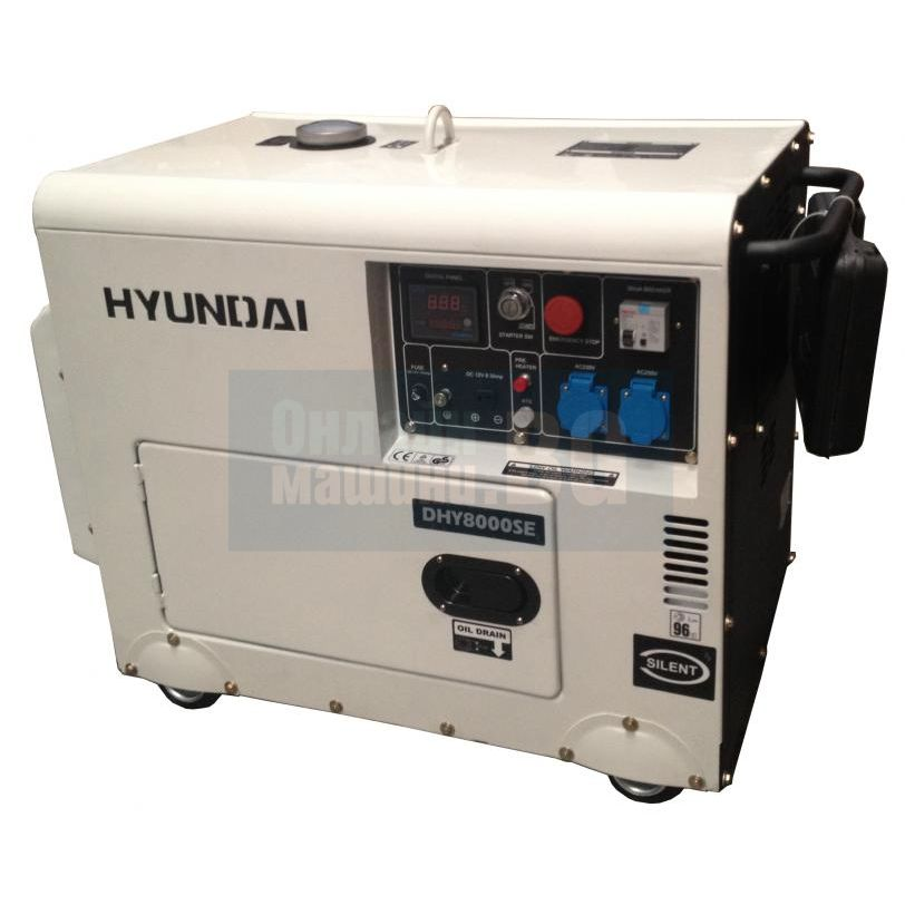 генератор hyundai 9000 се