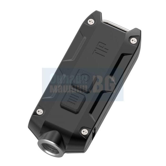 Фенер за ключодържател Nitecore Tip CRI black / USB, 56m, 240 lum