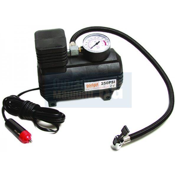 d9bfddbaea7 Компресор 12V за помпане на гуми с манометър Gadget - Цена - Продажба