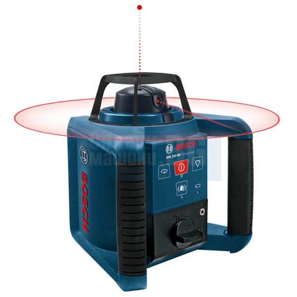 Ротационен лазер Bosch GRL 250 HV /до 250 метра с приемник/