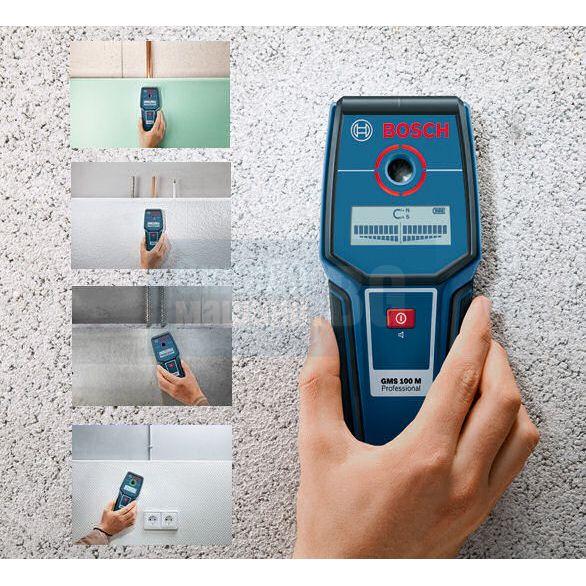 Детектор за напрежение Bosch GMS 100 M /до 100 мм. дълбочина/