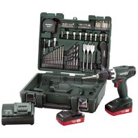 Акумулаторна отвертка Metabo BS 18 Li Compact Workshop 13 mm / 18V /2 акум. батерии - 2Ah, комплект/