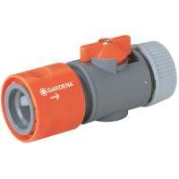 Приставка за маркуч с вентил за регулиране GARDENA /13 мм. (1/2 цола)/