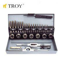 Комплект за нарязване на резби TROY T 36000 / лазерно заточена стомана /