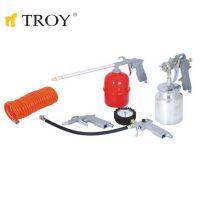 Комплект пневматични инструменти TROY T 2008 / 5 части /