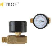 Регулатор на въздух с манометър TROY T 2011 / 0-11 bar, 0-160 psi /