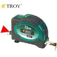Ролетка със стопер и лазер TROY T 23100 / 7,5 м х 25 мм. /