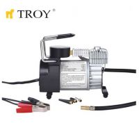 Компресор за гуми с манометър TROY T 18150 / 12V, 23A /