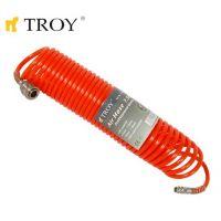Спираловиден маркуч за въздух TROY T 18615 / 15 метра, Ф 5 х 8 мм. /