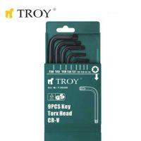 Комплект Торкс ключове TROY T 26200 / Т10-Т50, 9 броя торкс ключове /