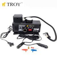 Мини компресор за въздух TROY T 18251 / 220V - AC, 12V - DC, дебит 15л/мин /
