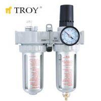 Пневматичен филтър, регулатор и омаслител TROY T 18624, 1/4''(N)PT