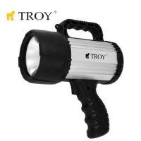 Акумулаторен фенер с рефлектор TROY T 28031 / батерия 12V, 55 W /