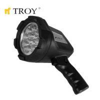 Акумулаторен ръчен фенер TROY T 28033 / батерия 6V, осветяване до 104 метра /