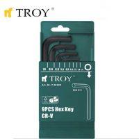 Комплект шестограмни ключове TROY T 26220 / 1,5 - 10 мм., 9 броя /