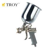 Бояджийски пистолет с горно казанче TROY T 18670 / дюза 1,5 мм. /