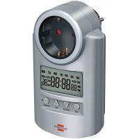 Реле за време Hugo Brennenstuhl LCD дисплей 16A 230V 168ч. 1бр.контакт