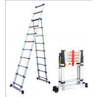 Двойна алуминиева телескопична стълба Weige WG 602-580А, 3,2+ 2,6 метра