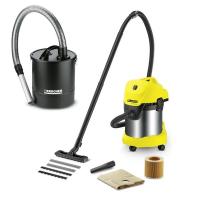 Прахосмукачка за мокро и сухо почистване Karcher MV 3 Premium Fireplace Kit /аксесоари за почистване на пепел/