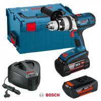 Акумулаторен винтоверт/ударна бормашина Bosch GSB 36 VE-2-Li /куфар L-Boxx, 2 батерии 4.0Ah/