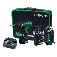 Акумулаторен винтоверт Hitachi KC10DHL  10,8 V  в комплект с радио и фенер
