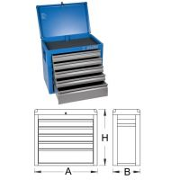 Шкаф метален за инструменти Eurostyle с 5 чекмеджета - 938/5V Unior