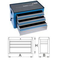 Шкаф метален с 3 чекмеджета - 939/3EV Unior
