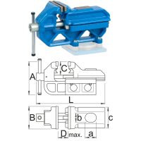 Шлосерско менгеме Quick IRONGATOR - 721/6 Unior / 24-80 mm /