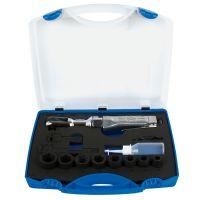 Комплект вложки и пневматична тресчотка 1/2'' в пластмасова кутия - 1555 Unior 14 бр.