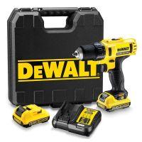 Винтоверт -бормашина акумулаторен Dewalt DCD710D2-QW / 10.8 V , 25 Nm  /0-1500 об./мин./