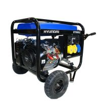 Бензинов монофазен генератор Hyundai HY 9000 LEK  /6.6 kW, 15 HP. електростартер, 22 л. резервоар/