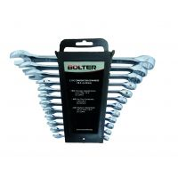 Ключове звездогаечни полирани Bolter комплект 12 бр. /6 - 22 мм/ CR.V.