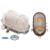 Осветително тяло овално LED Schwabe / 170х100мм, 2х3.6W, E27, IP44, бяло /