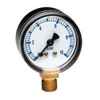 Манометър за вода THERMADOR INTERNATIONAL / Ф 50 , 10 bar, 1/4'' /