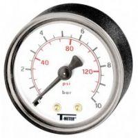 Манометър за вода THERMADOR INTERNATIONAL / Ф 50 , 10 bar, аксиален 1/4'' /