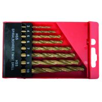 Свредла за метал, титаниево покритие к-кт 8 бр. (3-10 mm)