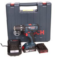 Акумулаторен ударно-пробивен винтоверт Bosch GSB 18-2-LI Plus / 18 V , 2.0 Ah , 2 батерии , куфар /