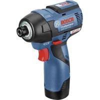Акумулаторен ударен гайковерт Bosch GDR 12V-110 Professional / 12 V , 2.5 Ah ,куфар L-Boxx , 2 батерии /