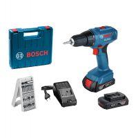 Акумулаторен професионален винтоверт Bosch GSR 1800 Li-2 /18V, 1.5Ah, 34Nm/+  Подарък 25 бита комплект