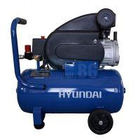 Компресор монофазен за въздух Hyundai HYAC 24-21 / 1.5 Kw / 2.0 Hp, 8 бара, 24 л /