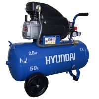 Компресор монофазен за въздух Hyundai HYAC50-21 / 1.5 Kw / 2.0 Hp, 8 бара, 50 л /