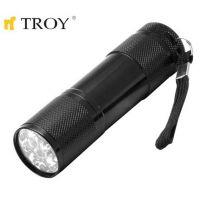 Ръчен фенер TROY T 28093 / 9 бр. светодиоди, 3 бр. батерии тип ААА /