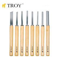 Комплект стругарски длета за дърво TROY T 25008 8 бр. / 360 милиметра /