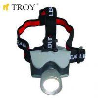 Акумулаторен фенер за глава TROY T 28203  / 124 LED диода /