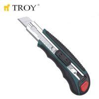 Професионален листов нож с метален водач TROY T 21600 / 100x18мм, 7 части /