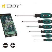 Комплект усилени отвертки TROY T 22304, 6 броя