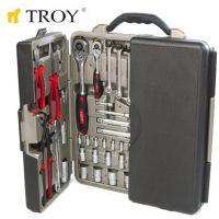 Професионален комплект ръчни инструменти в куфар TROY T 21910, 110 части